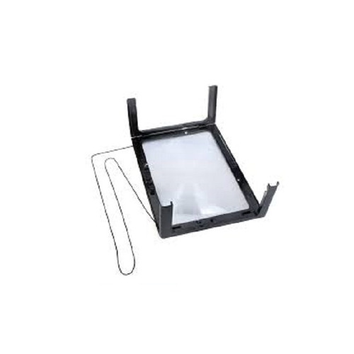 lupa de mesa gigante tamanho a4 com suporte maos livre 3x