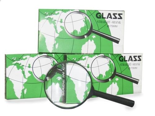 lupa de mão lente aumento diâmetro 60mm straight shank