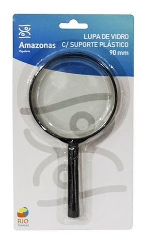 lupa de mão lente de vidro 90 milímetros