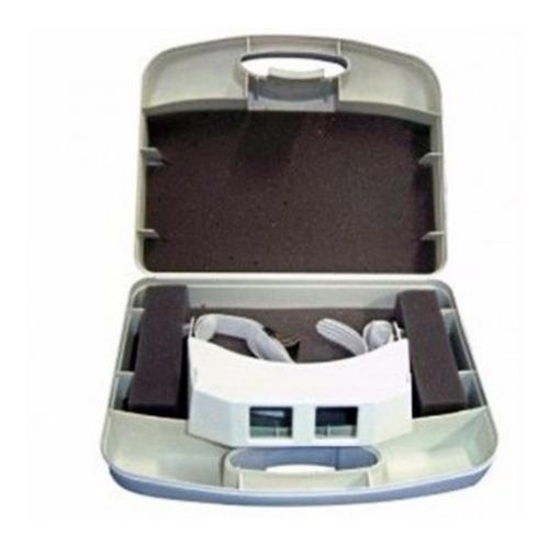 lupa de pala visor articulado com jogo de 3 lentes estek