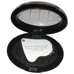 lupa doble de joyero con luz de led 30x-25mm 60x-12mm