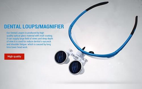 lupa fotoforo oculos dentista cirurgico cor black 3.5x420mm
