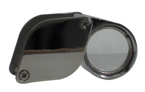 lupa gota cromo joyero de 21 mm y 10x
