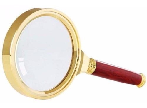 lupa lente aumento dourada 8x zoom 70mm escritório leitura