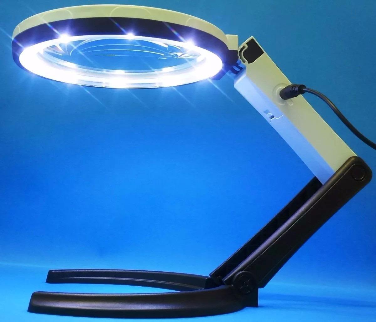 78b037bb4e112 lupa luminária 10 led com tripé para estética tomada pilhas. Carregando  zoom.