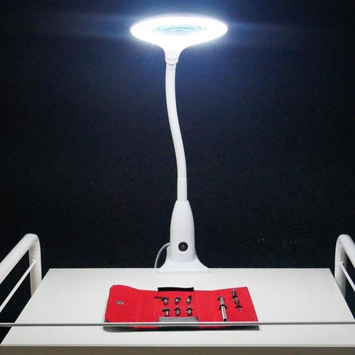 lupa luminária led apoio mesa smart 5d estética frete grátis