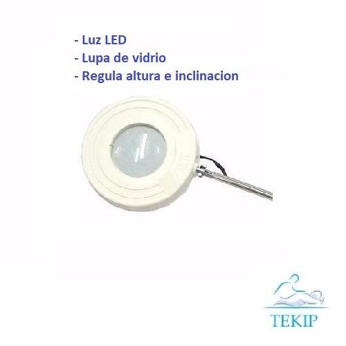 lupa manicuria podologia mesa 110mm luz garantía envíos