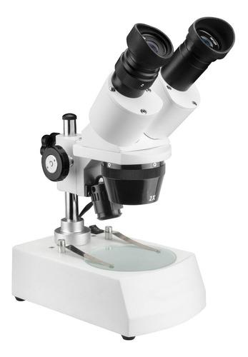 lupa - microscópio estereoscópio 80x led 12x sem juros