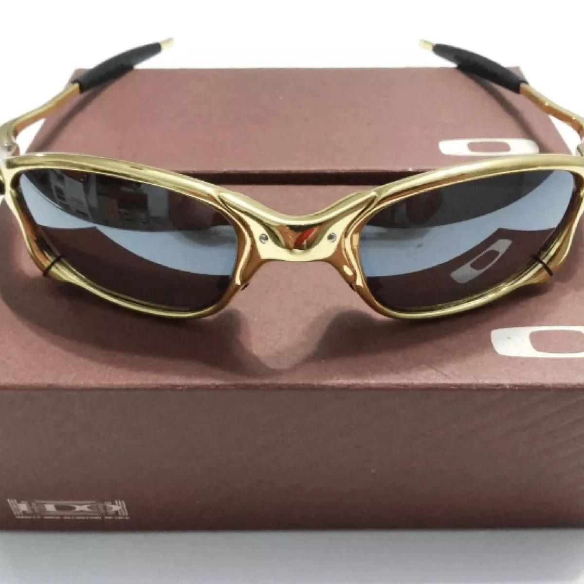 4e1a7cd082094 Lupa Oakley 24k Juliet Double X Dourada Black Frete Gratis - R  165 ...
