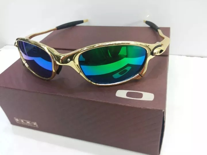 601f70ef38551 Lupa Oakley Doublex Juliet 24k Dourado Edicao Limitada - R  150