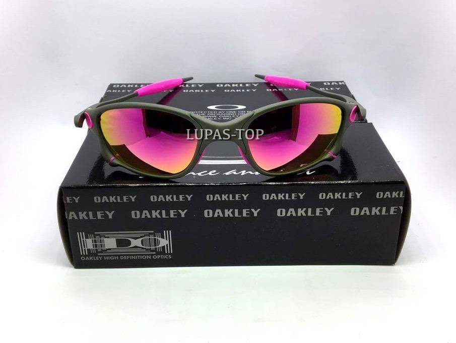 ecc78a673754c Lupa Oakley Doublex Xmetal Lente E Borrachas Rosa Pink Top - R  120 ...