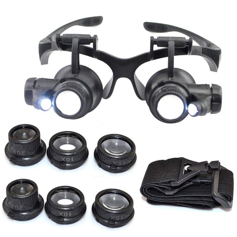 034737c394acb Lupa Oculos Relojoeiro Ate 25x Reparos Em Eletronica Bga - R  99