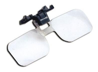 lupa para adherir al armazón de los anteojos. aumento 2x.