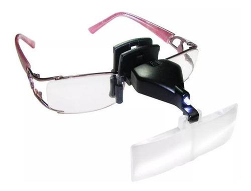 lupa para óculos vision eye estek pala estética led