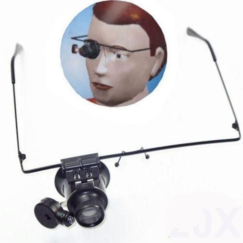 Lupa Tipo Óculos Com Iluminação De Led E Zoom De 20x - R  32,46 em ... d6ef9d7efc