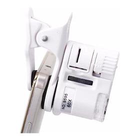 Lupa Zoom Microscopio Celular Tablet 60x Luz Led Y Uv