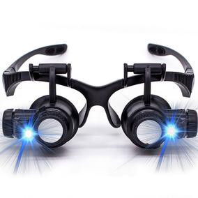 cb1577144f0eb Lupa Cabeca Oculos Profissional Relojoeiro Luz Led Aumento