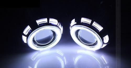 lupas proyectores led bixenon ojos de angel faros universal