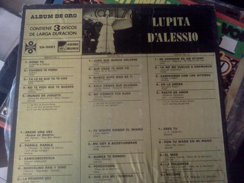 lupita dalesio lp de 3 discos 30 exitos album de oro