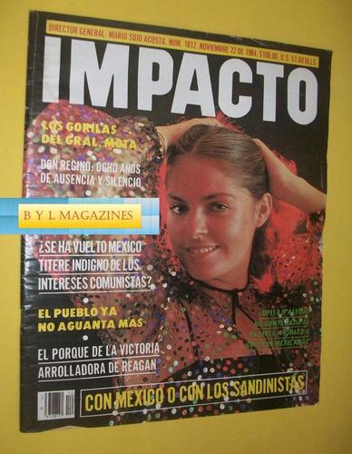 lupita d'alessio revista impacto noviembre 1984  numero 1812