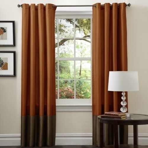 lush decor prima cortina panel par, 54 pulgadas por 84 pulga