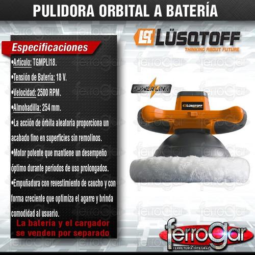 lustradora pulidora orbital a bateria 18v powerlink lusqtoff