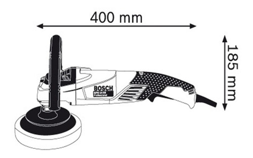 lustralijadora pulidora en seco bosch gpo 14 ce 180mm 1400w