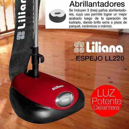 lustraspiradora liliana ll220 luz + paños tecnofast