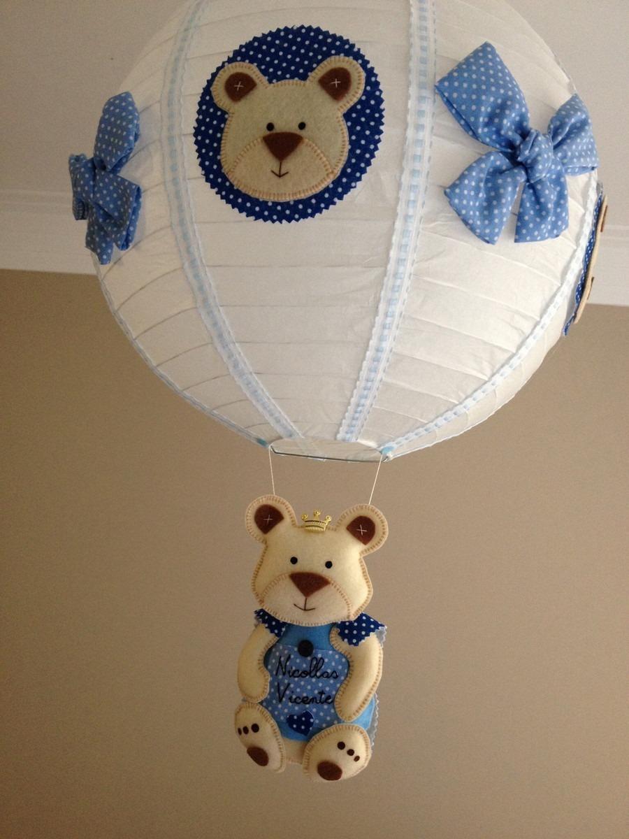 Lustre Bal O Infantil Quarto De Beb Urso Principe Menino R 89 00