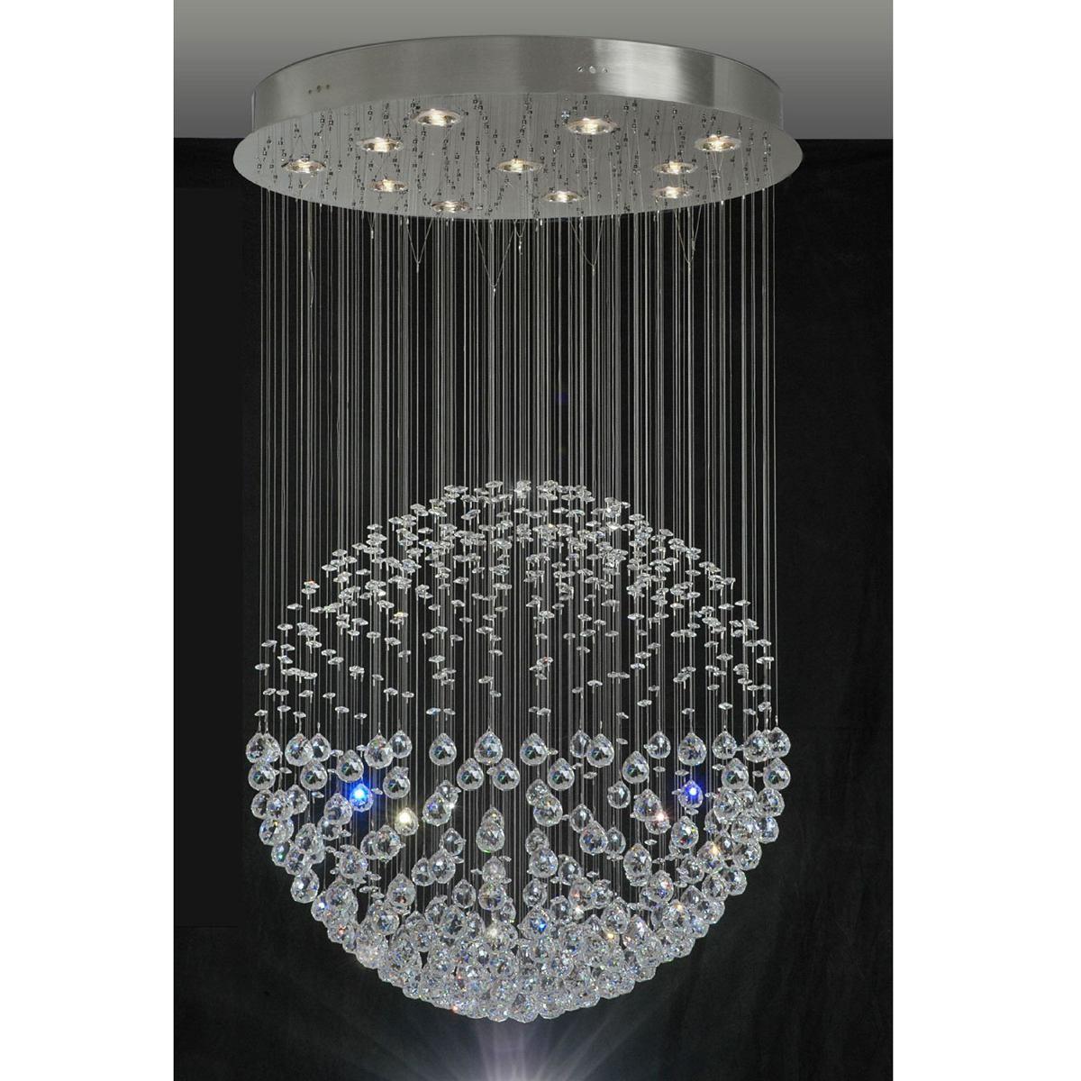 Lustre bola cristal redondo 60 frete gr tis torres r for Bolas de cristal decorativas