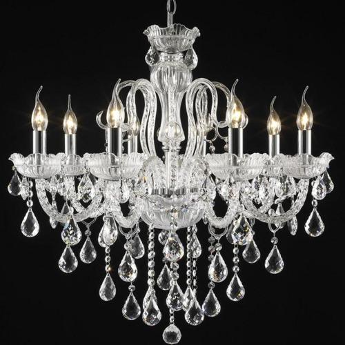lustre candelabro com cristais 8 braços lu017/8.71cl cf