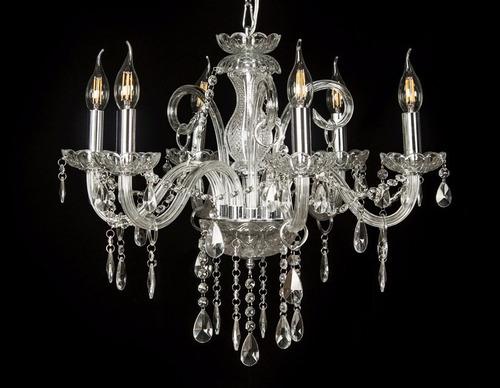 lustre cristal 8 braços base metal