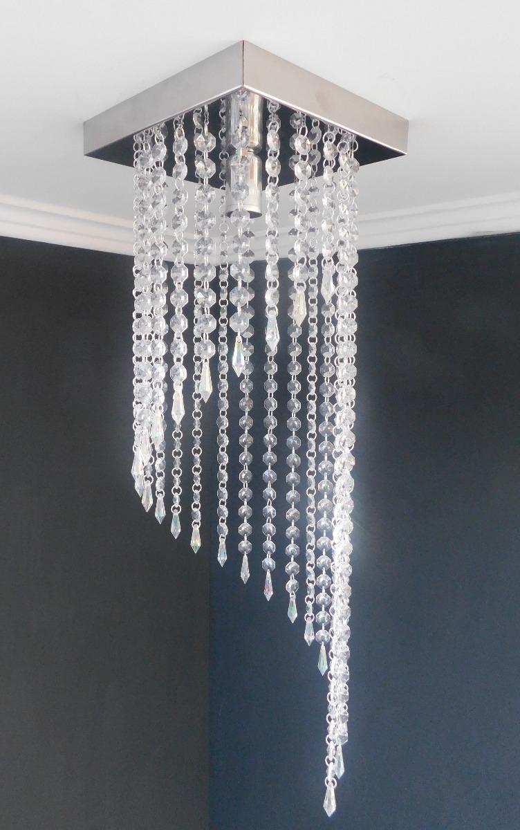 Lustre Cristal Acrilico Sala Cozinha Corredor Moderno Se10 R 90