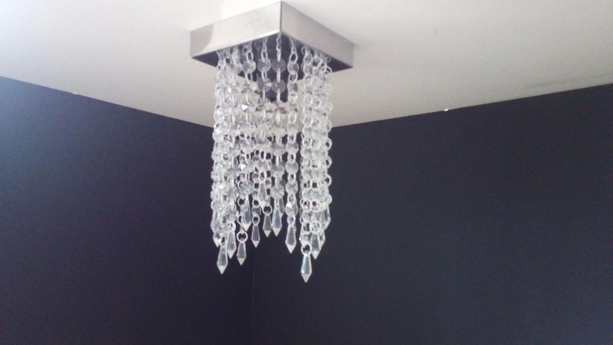 Lustre Cristal Acrilico Sala Jantar Barato Moderno Mr1303 R 72 00  -> Lustres Para Sala De Jantar Barato