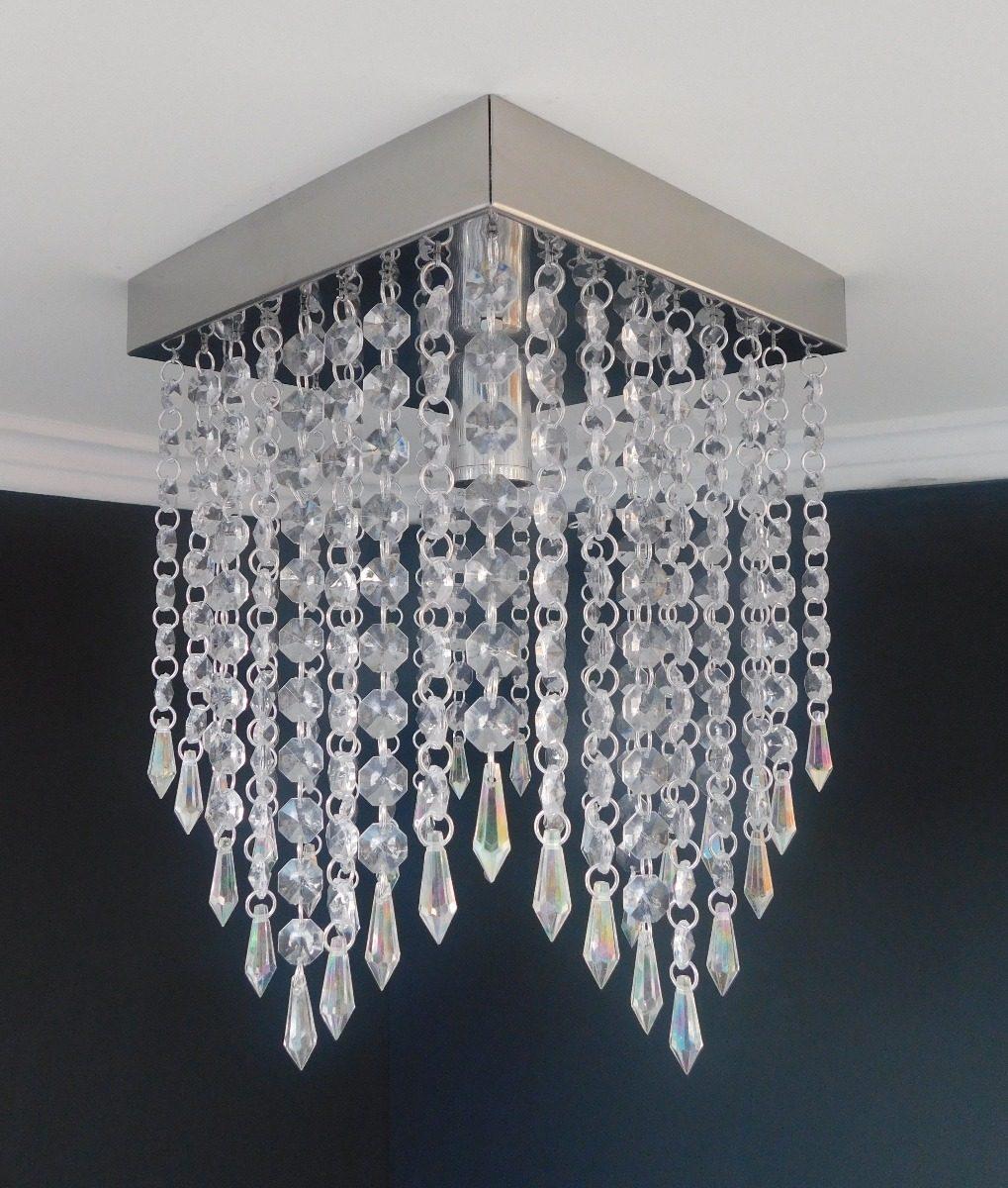 Lustre Cristal Acrilico Sala Jantar Moderno Barato Londres R 119  -> Lustres Para Sala De Jantar Barato
