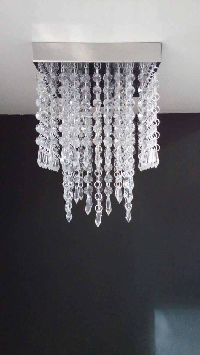 Lustre Cristal Acrilico Sala Jantar Moderno Barato Mq2024 R 100  -> Lustres Para Sala De Jantar Barato