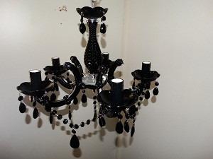 lustre cristal preto