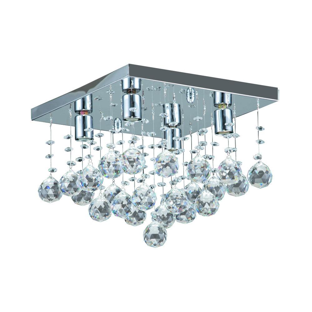 Lustre Cristal Quadrado Cascata R 699 99 Em Mercado Livre