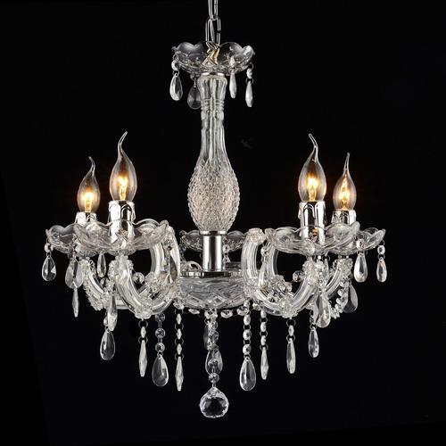 lustre cristal translucido maria tereza 5 braços k5 1 linha