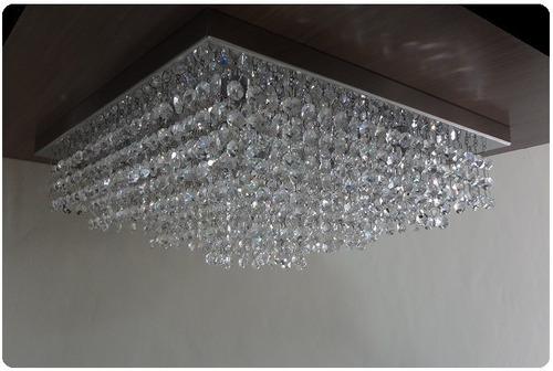 lustre de cristais autênticos 40x40 promoção ld014