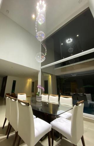 lustre de cristal 3 globos base 50 cm a partir 1,8 até 2,2 m