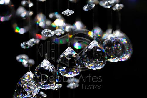 lustre de cristal asfour em espiral - direto do fabricante