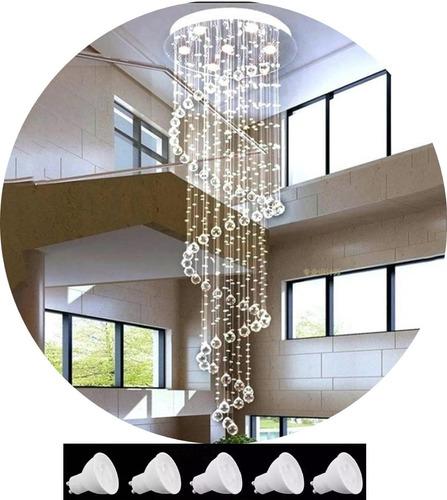 lustre de cristal com 1,50 m com lampadas promoção