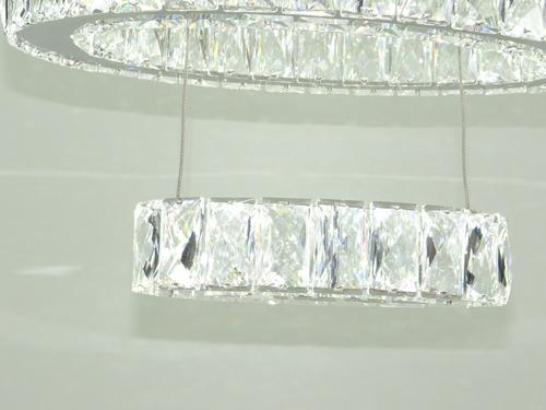 lustre de cristal k9 3 anéis 12x s/ juros pronta entrega