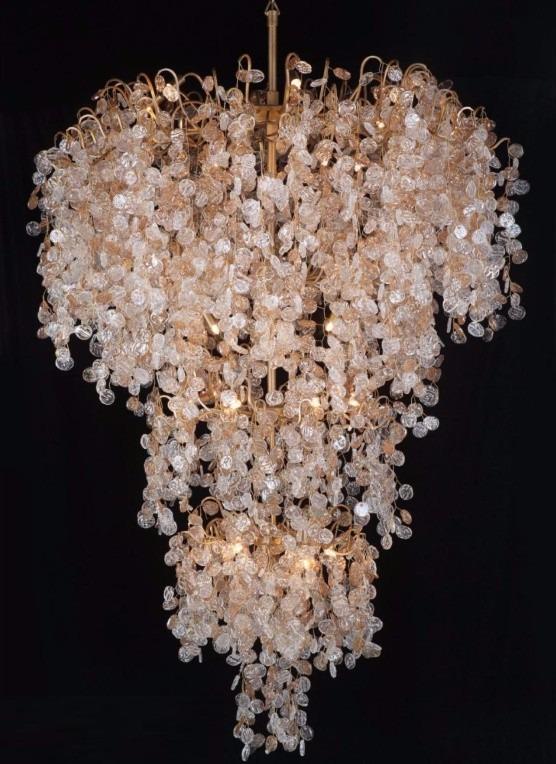 Lustre De Cristal Murano Chandelie Ch1005 R 4119282 Em Mercado