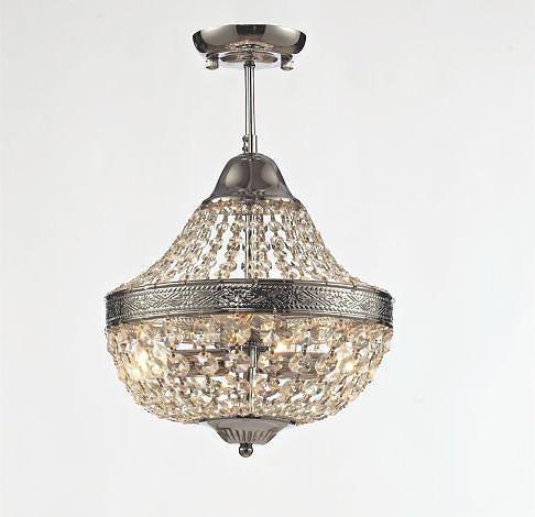 Lustre De Cristal Royal Metal Cromado Ouro Velho Ou Doura R