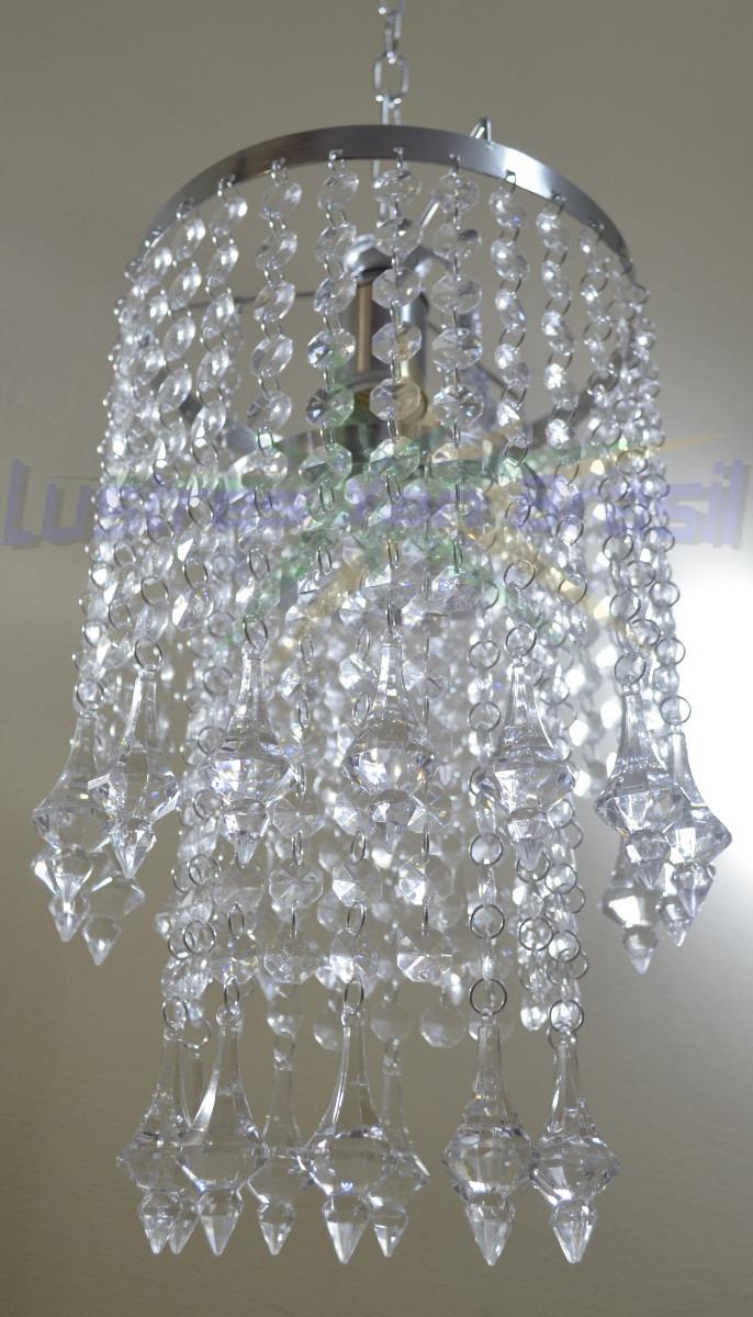 Lustre Em Cristais Acrilico Modelo Piemonte R 219 99 Em Mercado Livre