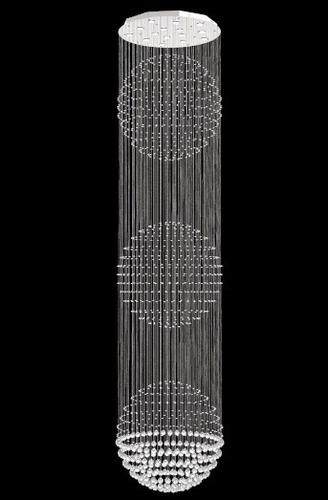 lustre esfera de cristal  ø 80cm  ref: g3/80