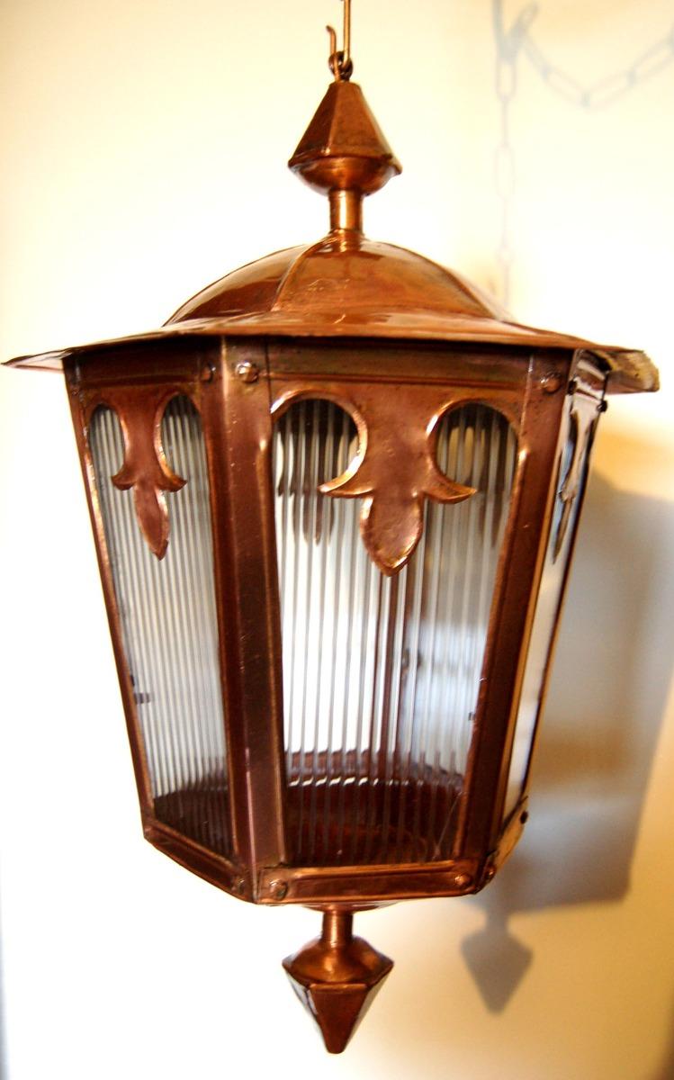 Lustre Lanterna Lumin 225 Ria Em Cobre Estilo Colonial Antigo
