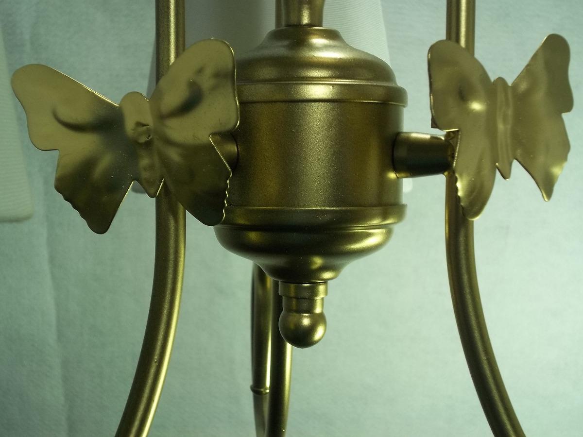 Lustre Lumin Ria Dourado Quarto De Beb Menino Ou Menina R 319  ~ Lustres Para O Quarto Com Tirar Umidade Do Quarto